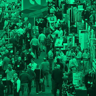 attendees at the NFMT expo floor