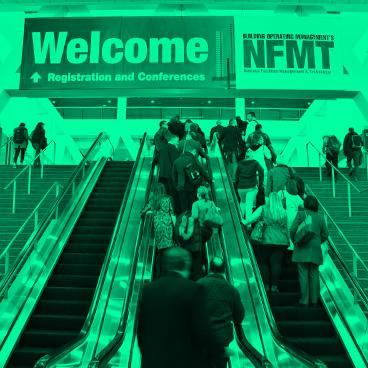 attendees entering NFMT