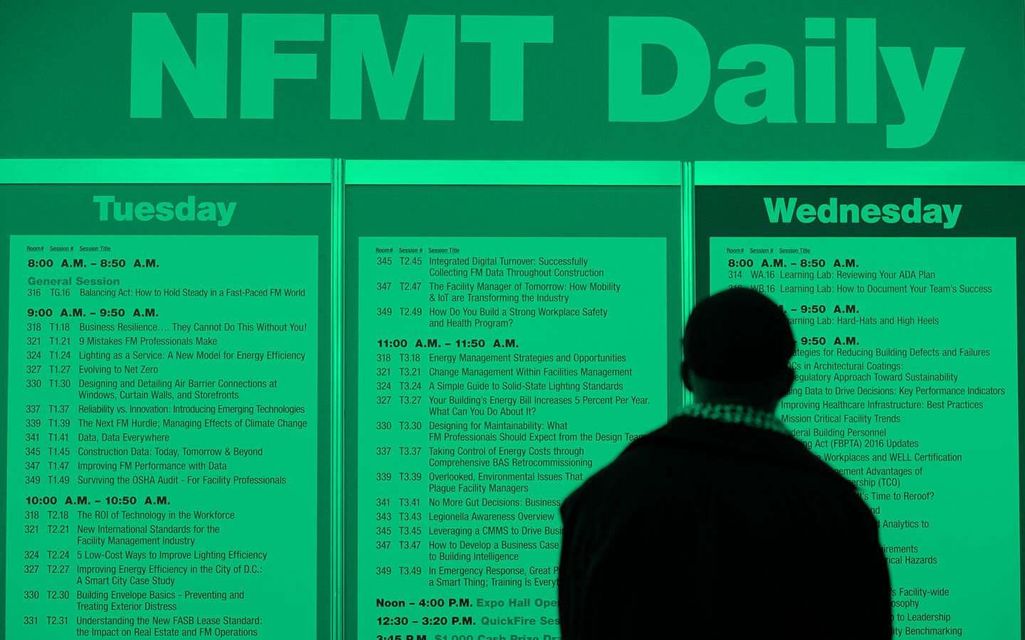 NFMT Daily Schedule Board