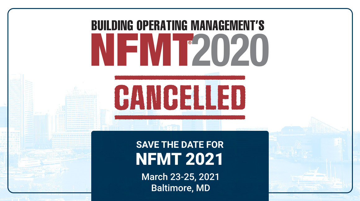 NFMT 2020 Cancelled